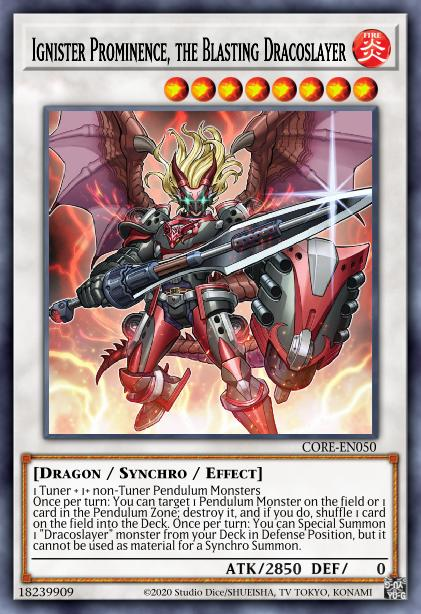 Ignister Prominence, the Blasting Dracoslayer