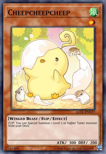 Cheepcheepcheep is one of the cutest yugioh cards