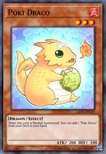 Poki Draco is one of the cutest yugioh cards