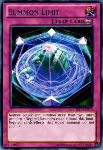 The Trinity Summon Limit is like the actual card, Summon limit
