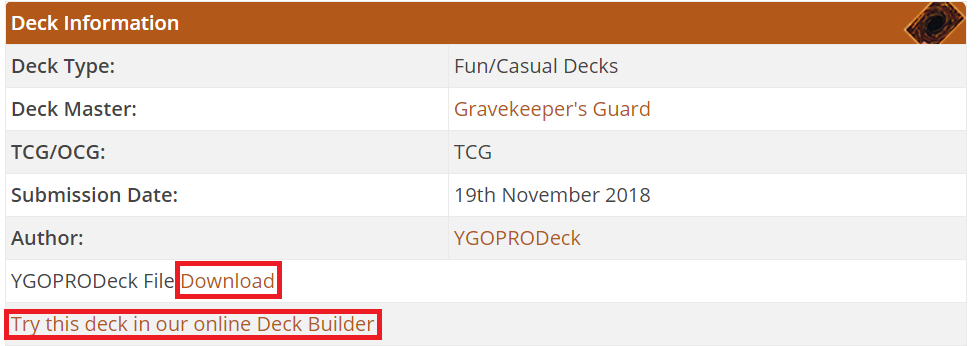 Downloading Decks Guide - YGOPRODECK